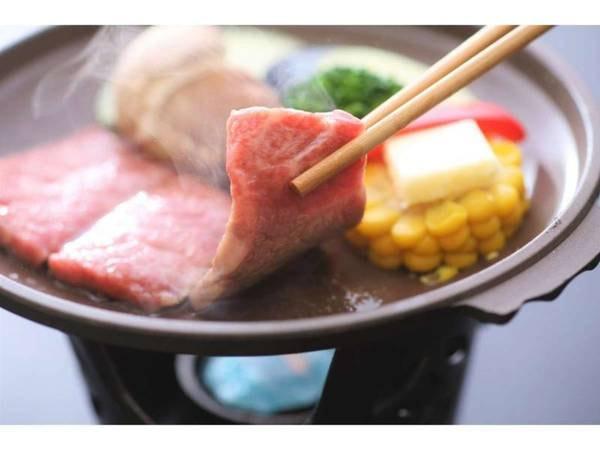 島根和牛の陶板焼き(一例)