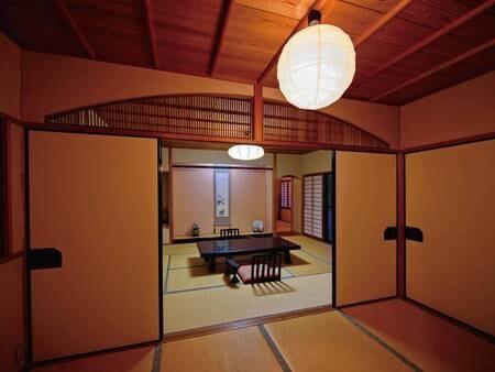 【あがの】檜風呂付離れ和室三間[禁煙]/一例
