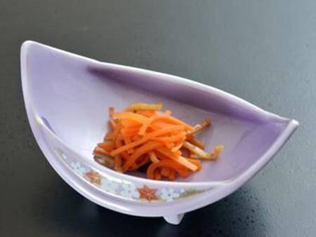 *夕食一例/会津地方の郷土料理のひとつ、いか人参。