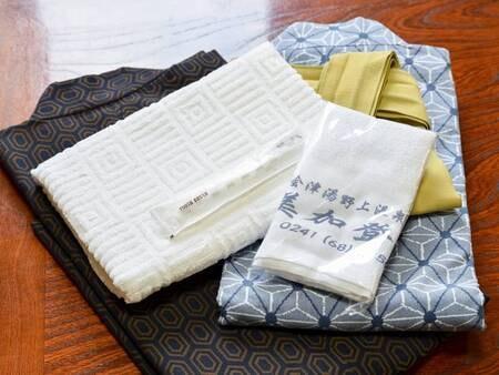 *アメニティ/タオル、浴衣、歯磨きセットご用意しております。