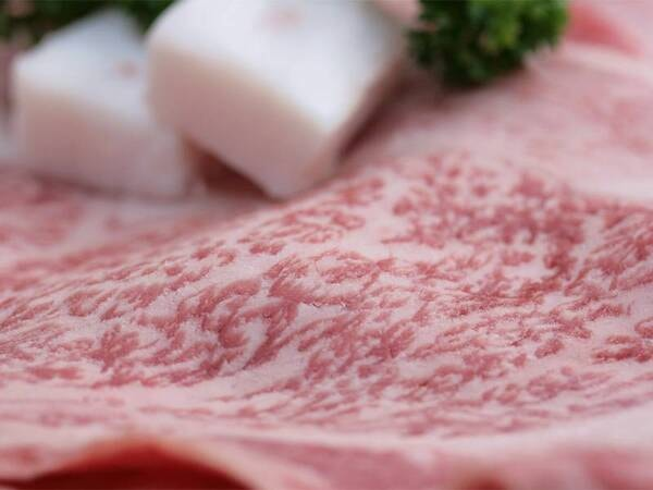 *【米沢牛プラン一例】米沢牛のすき焼き。特製の味噌だれでいただく濃厚な一品。