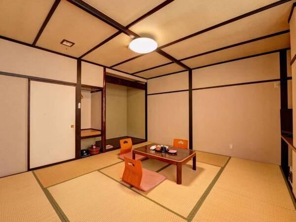 *【和室10畳一例】ファミリー、グループにお勧め!足を伸ばしてゆったりお寛ぎいただけます。
