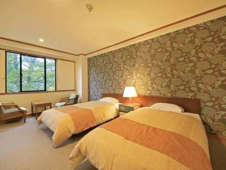 【松林側エコノミーツイン(26㎡)一例】必要最低限の機能を備えたリーズナブルなお部屋です