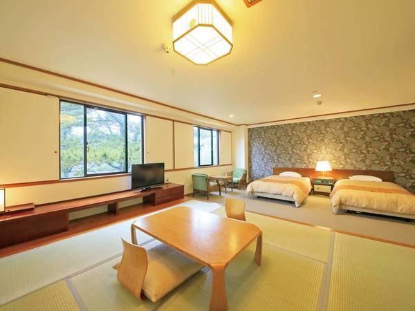 【松林側ファミリールーム(52㎡)一例】松林が身近に感じられる、自然あふれる爽やかな空間