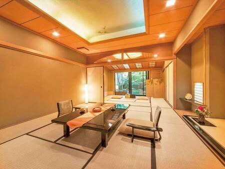 木心亭◆石造露天風呂/禁煙15畳+10畳/一例
