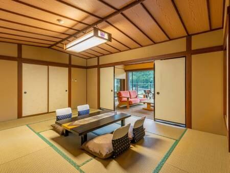 *【特別室(一例)】和室はひろびろ12畳!6名までご宿泊いただけます♪