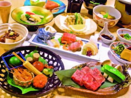 【とちぎ和牛と贅沢会席/例】山海の食材をふんだんに取り入れた創作料理