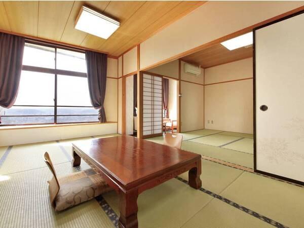 【2間和室/例】10畳+8畳!眺望抜群の広々2間和室でのんびりくつろぐ