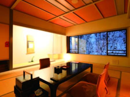 【新館・渓谷側/例】エレベータ付の4階以上なので移動も楽々。客室からの眺望も◎