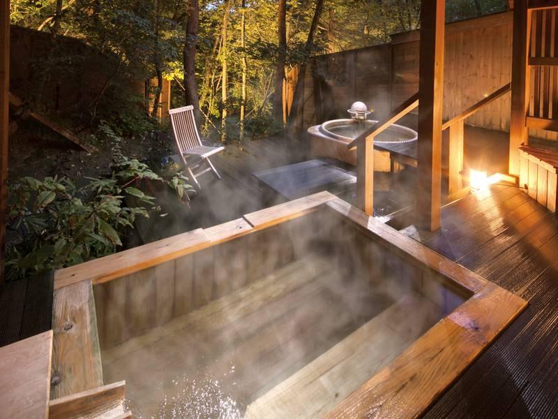 貸切露天風呂【自然浴離れの湯「あけび」】