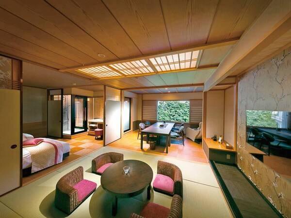 【露天風呂付特別室【山水雪月華】/例】露天風呂付客室で贅沢なひと時を