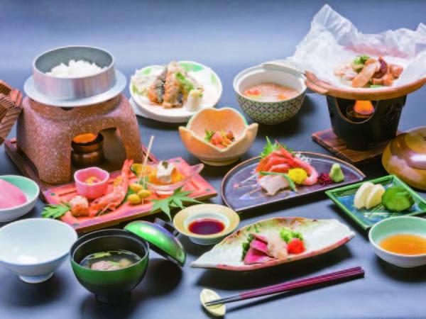 【料理/例】選べる夕食の和会席の例