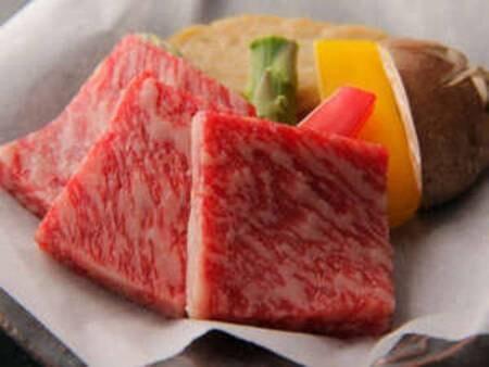 人気☆彡とちぎ霧降高原牛の陶板ステーキプラン/一例