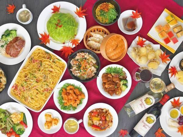 【冬のバイキング/例】和洋中約50種の料理を楽しめるディナー※蟹の提供は冬季のみ