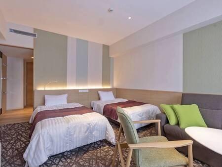 【お部屋(ツイン)/例】全室禁煙。落ち着いた雰囲気の内装