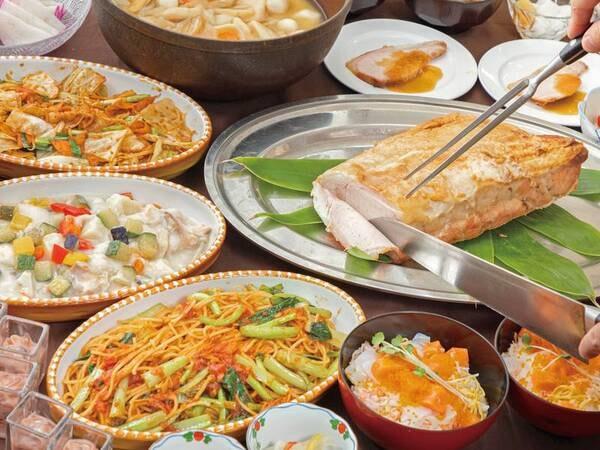 【和洋中ブッフェ/例】地産食材も豊富な食べ放題
