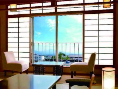 【客室/例】上州の山々を望む10畳以上和室※天候により見えづらい場合有