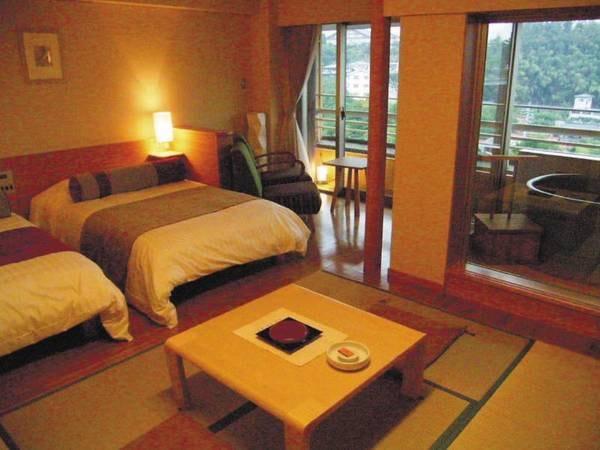 【楽水館露天風呂付き客室/例】和洋室
