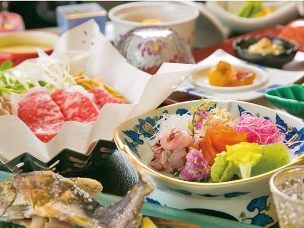 【上州牛&選べる岩魚料理/例】