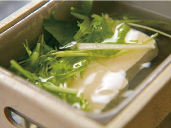 【朝食/例】湯豆腐