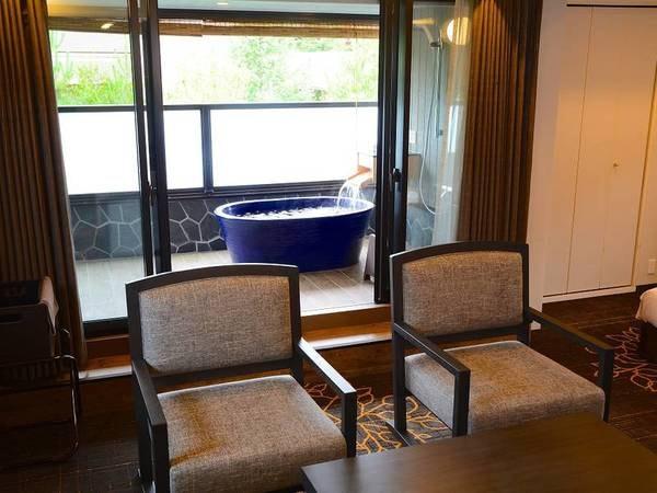 【半露天風呂付81㎡洋室/例】プライベートな空間でゆったり