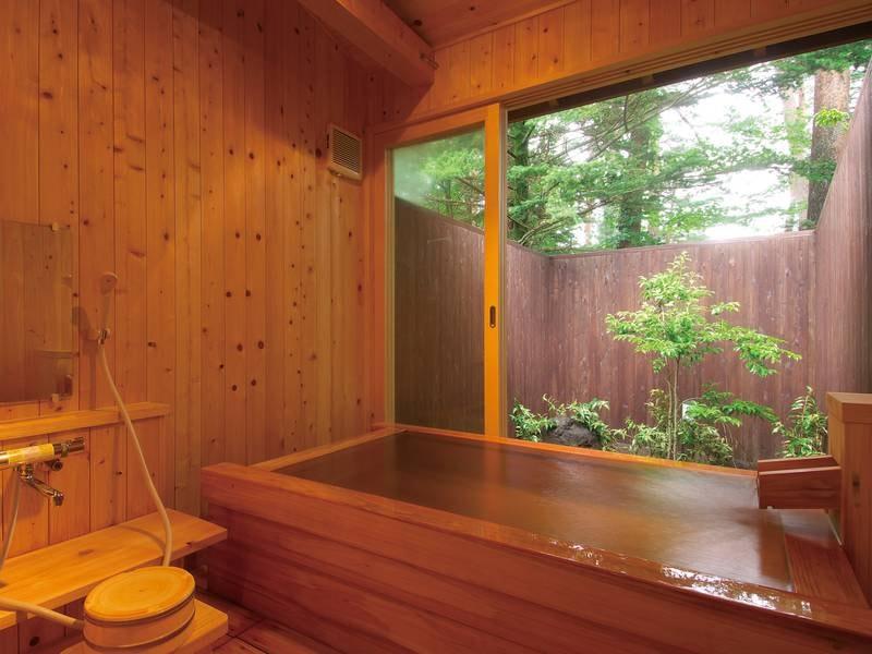 【貸切風呂/湯檜】プライベートな空間でゆったり