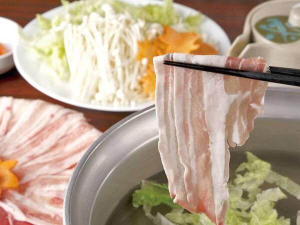 【バイキング/例】豚のしゃぶしゃぶ。地産地消にこだわった食材