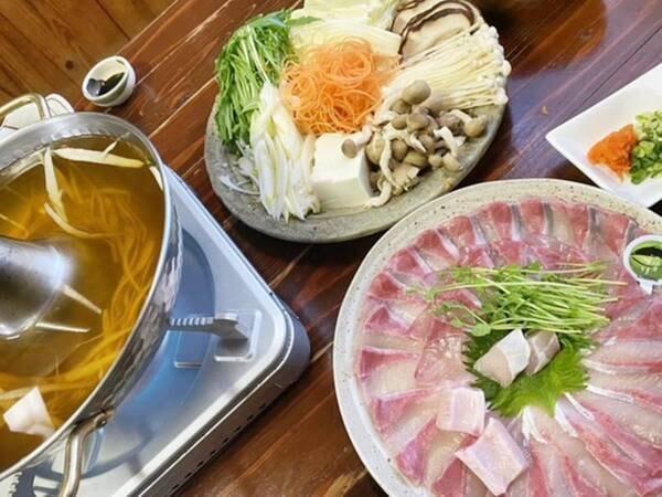 *【地魚しゃぶしゃぶ】鮮度抜群!大分の旬魚をお召し上がりください。