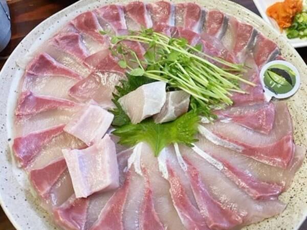 *【地魚しゃぶしゃぶ】ぷりっぷりの旬魚をしゃぶしゃぶで!※地魚は季節によって変わります。