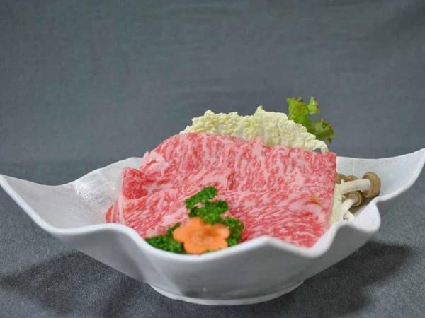 風味が優れていることが特長の『熊野牛』をサッとお湯にくぐらせてお召し上がりください。