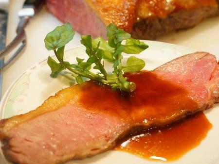 【夕食/例】宿自慢!絶品ローストビーフ
