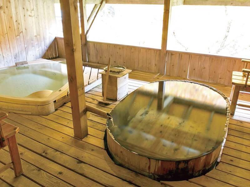 【貸切露天風呂/双龍】寝風呂と桶風呂の2種類が愉しめる