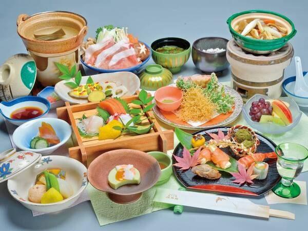 【夕食/例】1品出しの懐石は旬の食材を使用した季節替わりの内容
