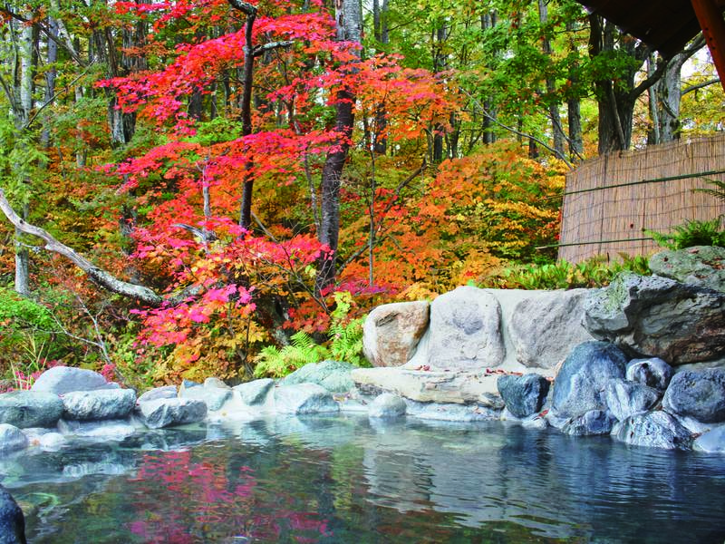 【露天風呂/百景花】例年10月中旬~下旬は紅葉が見頃※冬季閉鎖(11月下旬~4月下旬頃)