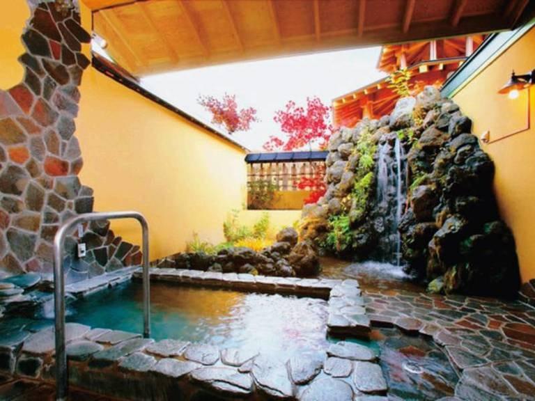 11種類の貸切露天風呂 ホテルサンバード