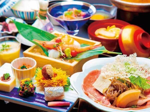 【夕食/例】旬の食材を使用したいなか豚おまかせ会席