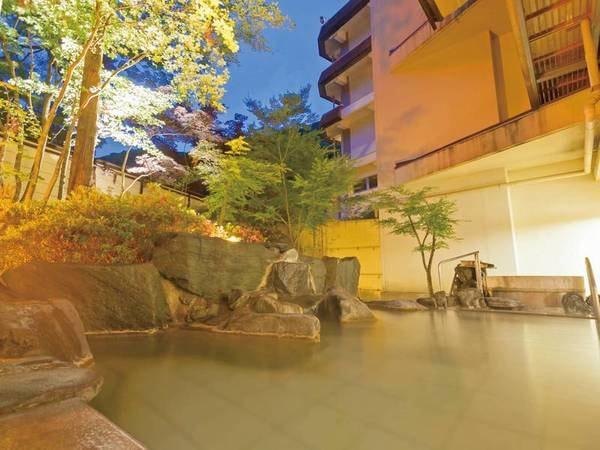 【露天風呂/岩舟の湯】開放感のある露天風呂