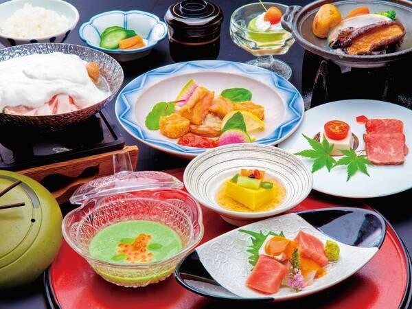 【夕食/例】鮑・上州麦豚・ローストビーフグルメ会席