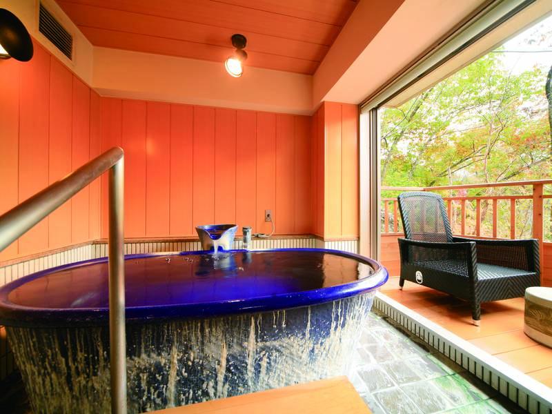 【貸切風呂】小さなテラス付きの可愛い貸切風呂