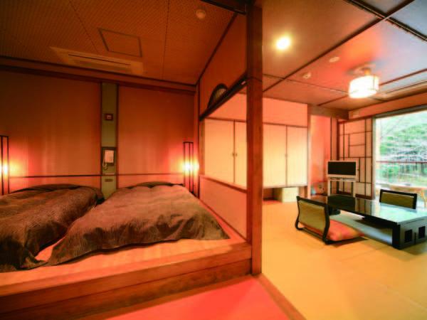 【新館露天風呂付客室/例】和室、または和室+ベッドタイプより宿おまかせでご用意
