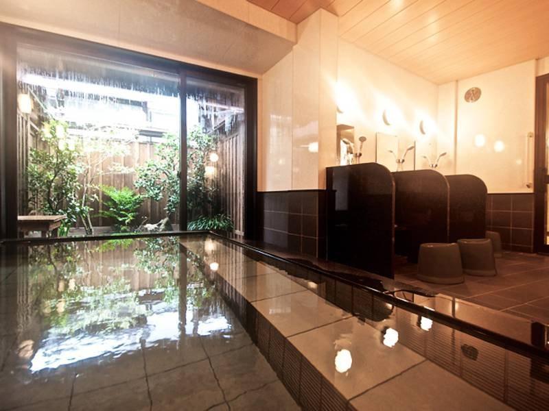 母屋ゆず庭園風呂/ゆず庭園を眺めながらゆったりと温泉を…
