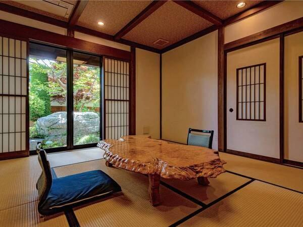 【別邸 隠居の間】 半露天風呂付き客室/一例