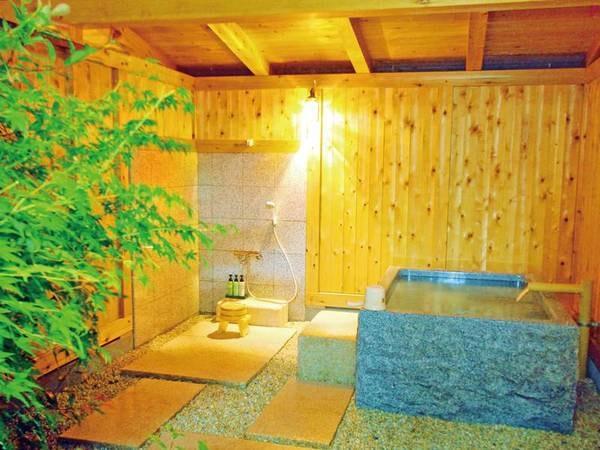 【客室露天風呂】客室それぞれに異なった設えの露天風呂を完備(指定不可)