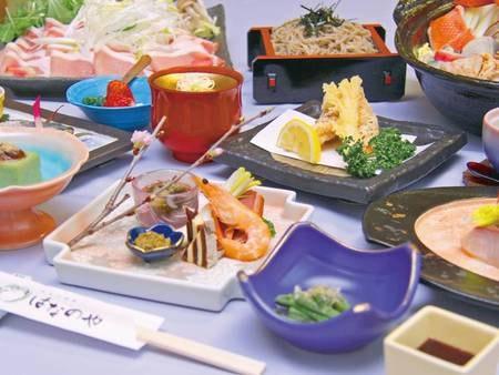 【夕食/例】秩父の自然に育まれた食材と料理長の確かな技術による創作料理