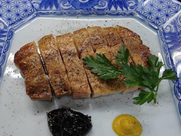 もち豚ステーキコース/一例