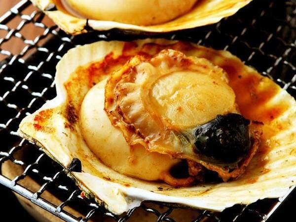 ホタテの網焼き(夕食一例)