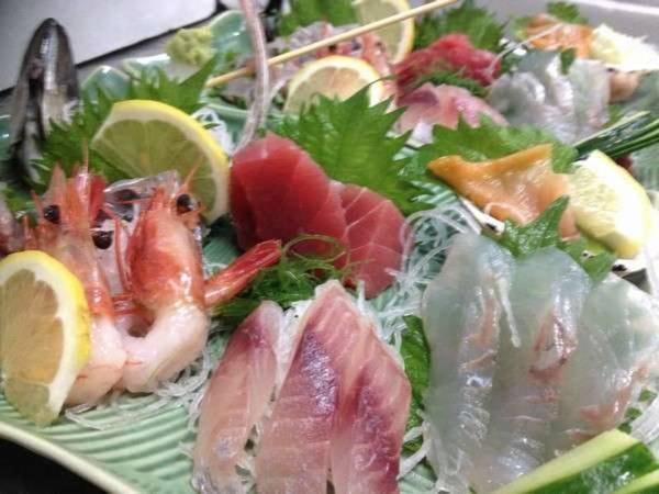 新鮮お刺身(夕食一例)