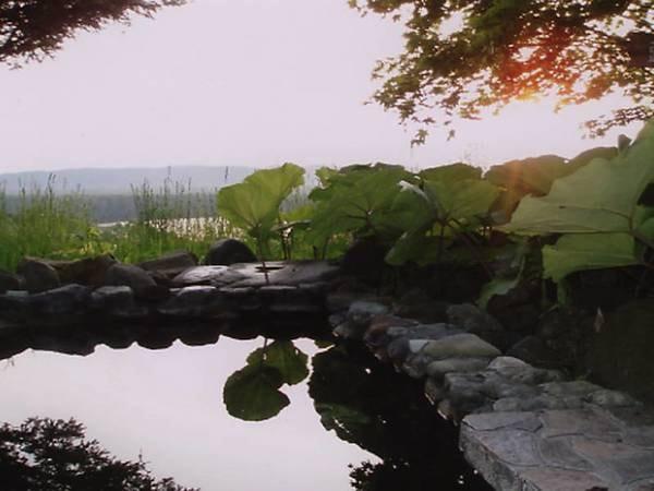 釧路湿原とシラルトロ湖を一望できる展望露天風呂