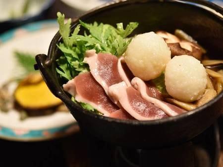 *【夕食一例】「だまこ」とは炊いたお米をすり鉢ですって団子状にしたお料理です。