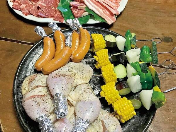 【夕食のみ】夕食BBQセット(一例)